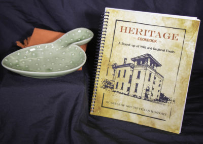Ceramic catcus dish tray & Heritage Cooking book (sold separately)