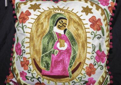 Virgen de Guadalupe throw pillow