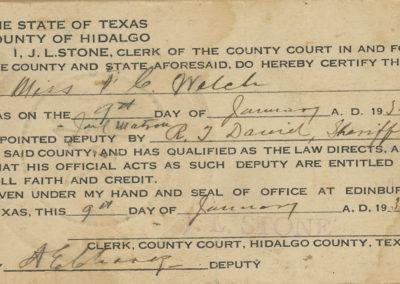 MHCS - Welch deputy certificate