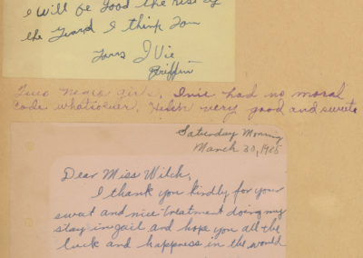 MHCS - Welch thank you notes