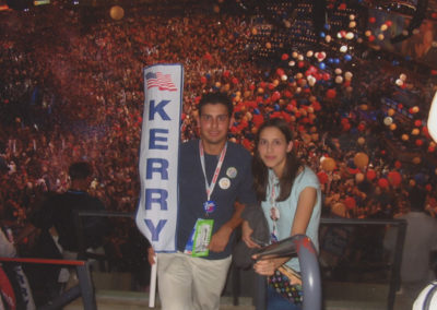"""William """"Billy"""" Jr. and Letty Leo at the DNC in Boston (2004)"""