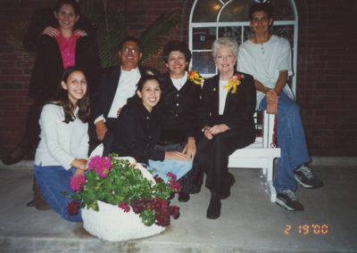 Leo family with Texas Governor Ann Richards